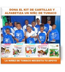 Dona cartillas para la niñez de Tumaco