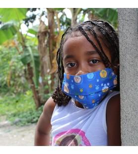 Tapabocas para la niñez vulnerable